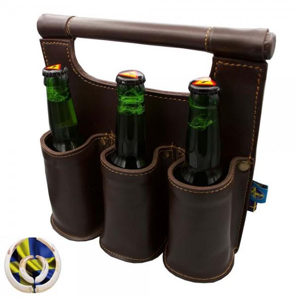 Swevest Bierträger aus Leder 1