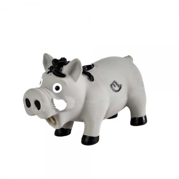 Farm-Land Latex Wildschwein Hundespielzeug in Grau 1