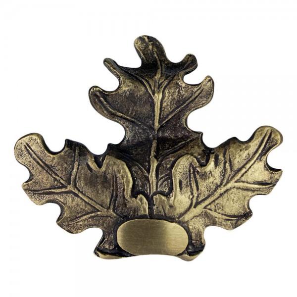 Eichenlaubabdeckung für Keilerwaffen aus Bronze