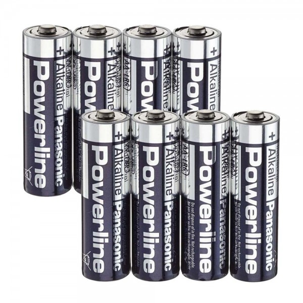 Panasonic Powerline AA Batterien 8er