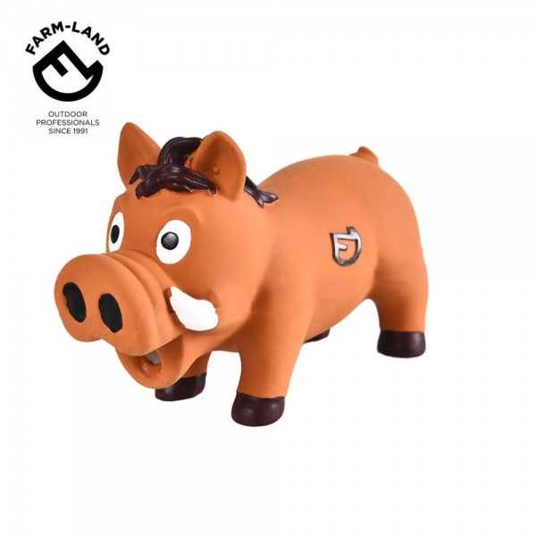 Farm-Land Latex Wildschwein Hundespielzeug in Braun 1