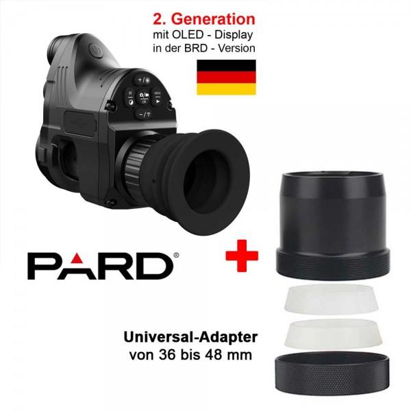 Angebot PARD NV007A + Universal-Adapter im Paket