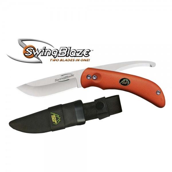 Swing Blade Jagdmesser mit Aufbruchklinge Orange