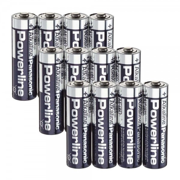 Panasonic Powerline AA Batterien 12er