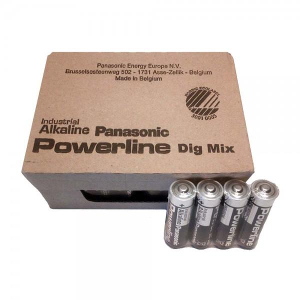 Panasonic Powerline AA Batterien 48 Stück