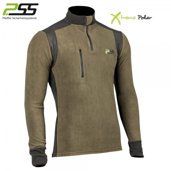 PSS X-treme Polar Fleeceshirt grün/schwarz 1