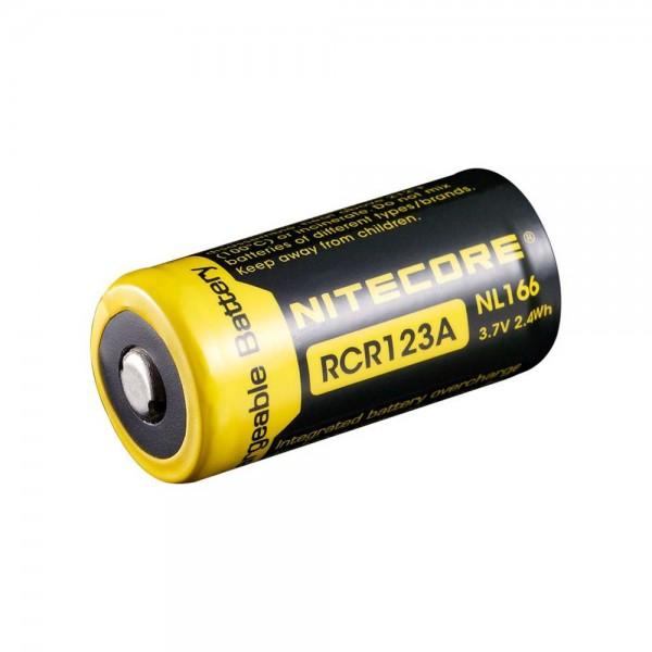 NiteCore CR123 Li-Ion Akku 3,7 Volt 650mAh