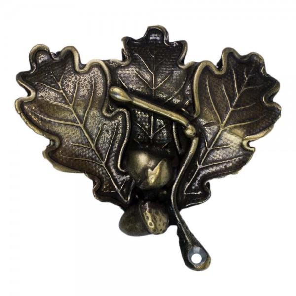 Eichenlaubabdeckung für Keilerwaffen bronzefarben