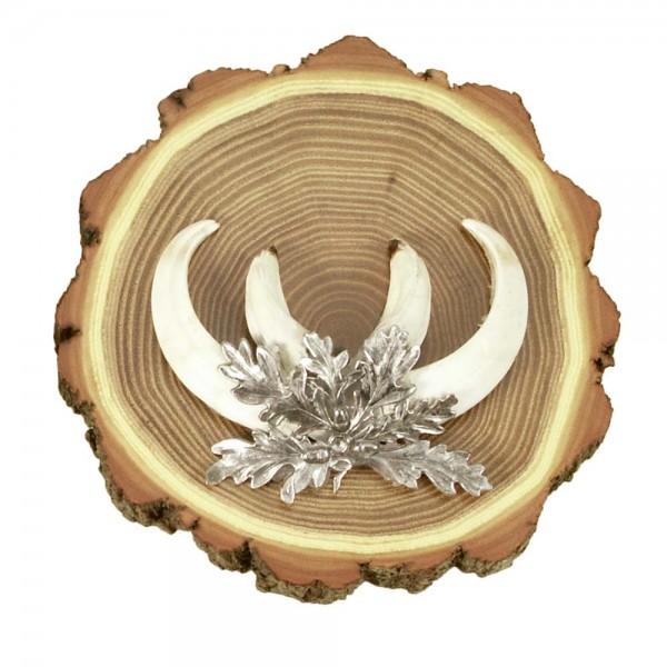 Keilerschild rund aus Akazienholz