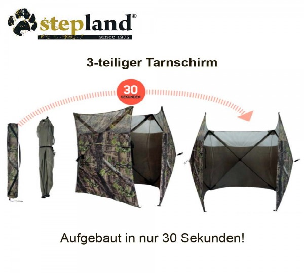 Stepland 3-teiliger Tarnschirm Camo 1