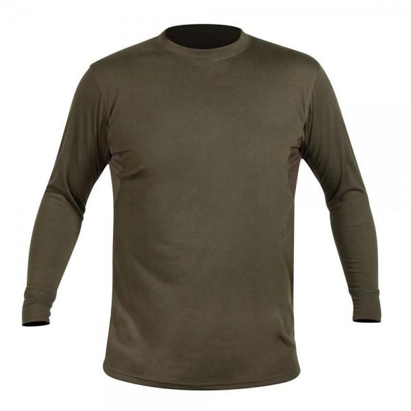 Hart Crew-L T-Shirt Langarm Oliv