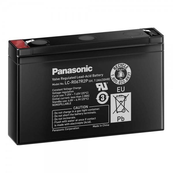 Panasonic LC-R067R2P Bleiakku 6 V Foto 1