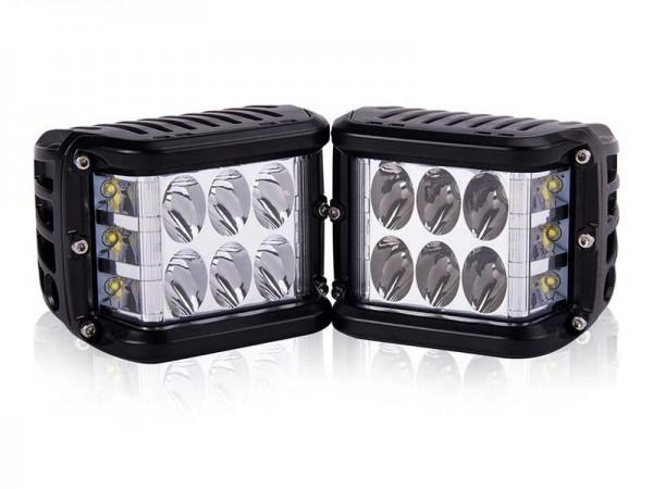 45 Watt LED Arbeitsscheinwerfer Set (2 Stück) 1