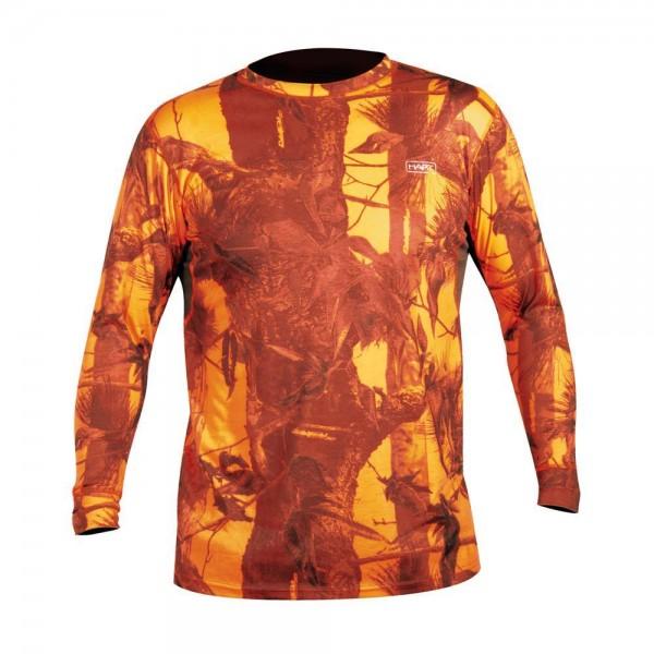 Hart Crew-L T-Shirt Langarm Camo Blaze